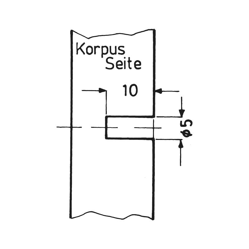 Selbstsichernder Bodenträger-Verbinder MEDIABLOCK - BODTRG-ZD-(ZN)-SCHWARZ-D20MM