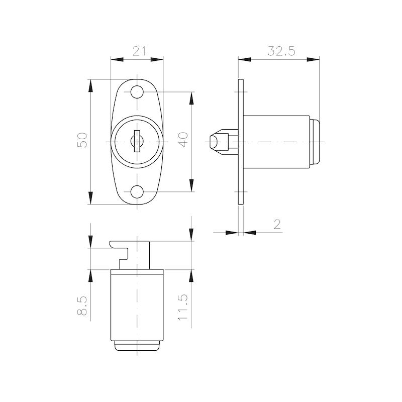 Druck-Drehzylinder MS 5000 - 2