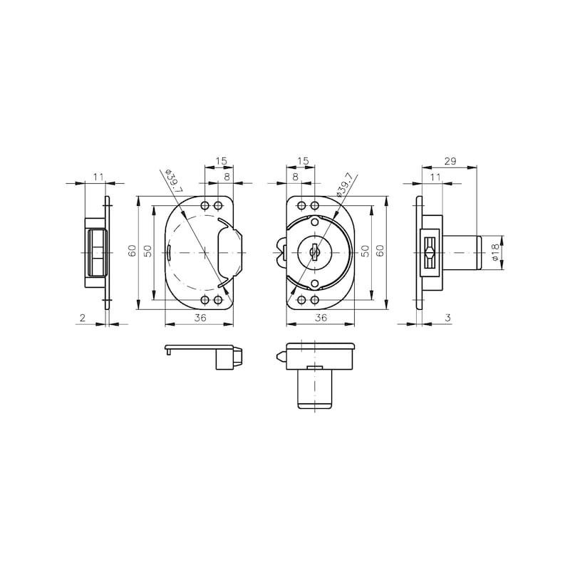 Rollladeneinsteckschloss MS 5000 - 2