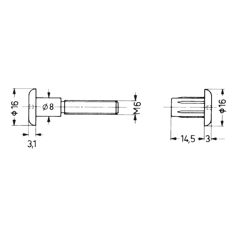 Verbindungsschraube - SHR-VB-KST-FLKPF-SZ-(A2K/BR)-M4X(28-34)