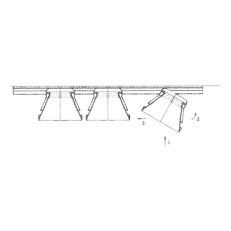 Kabelführung horizontal - 3