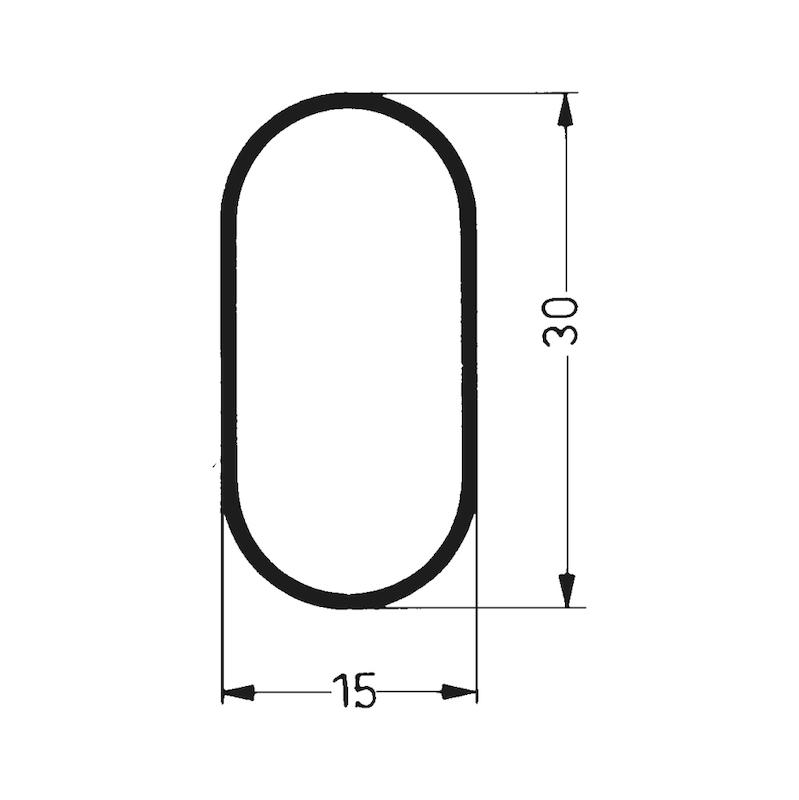 Schrankrohr oval - 2