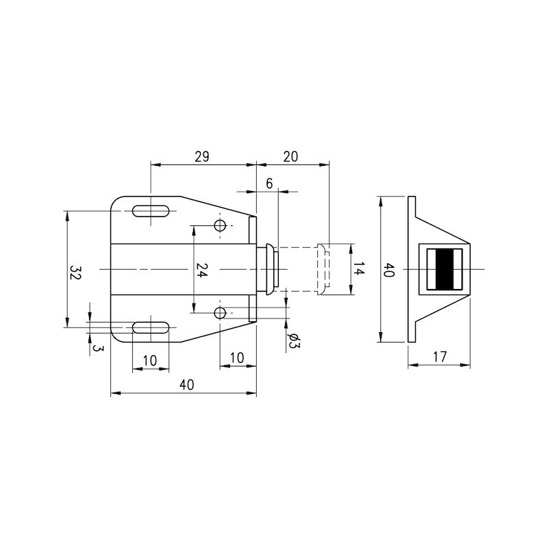 Einzel-Druckmagnetschnäpper - 2