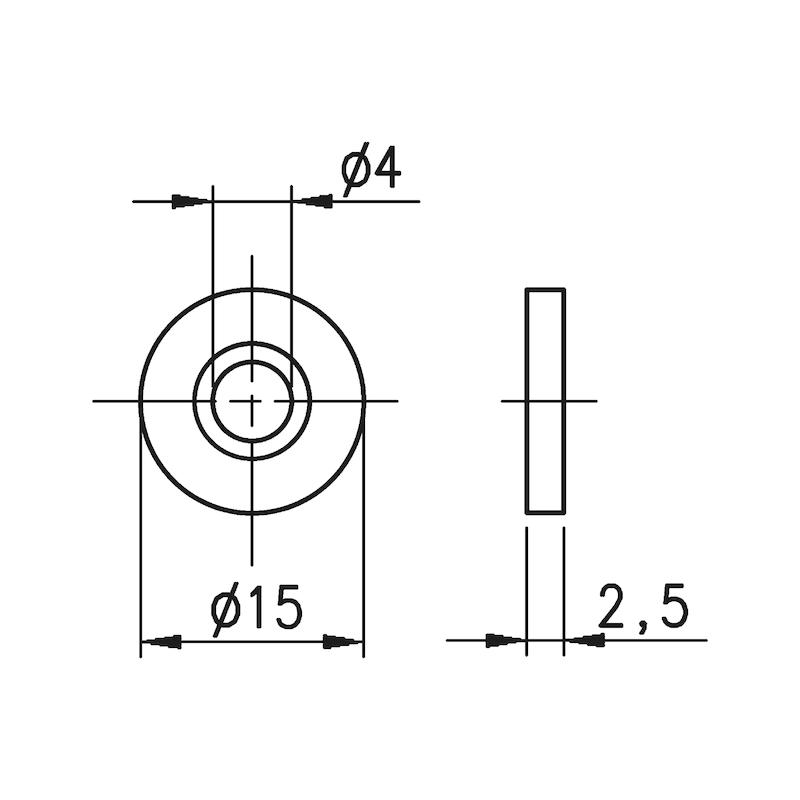 Gegenplatte für Druckmagnetschnäpper - 2