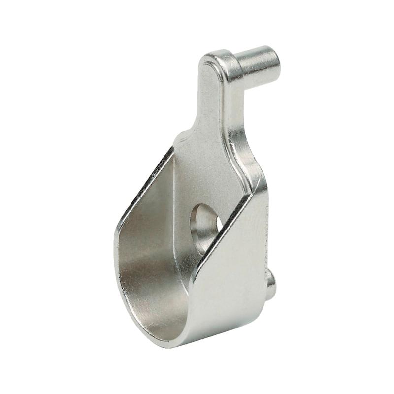 Schrankrohrlager oval mit Stift - 1