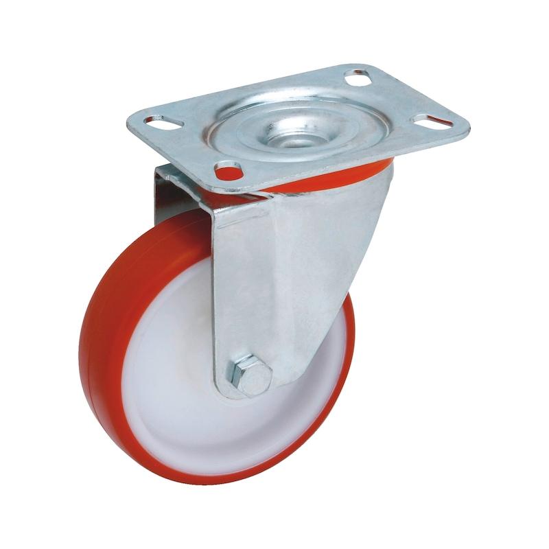 Roulette de manutention pivotante - 1