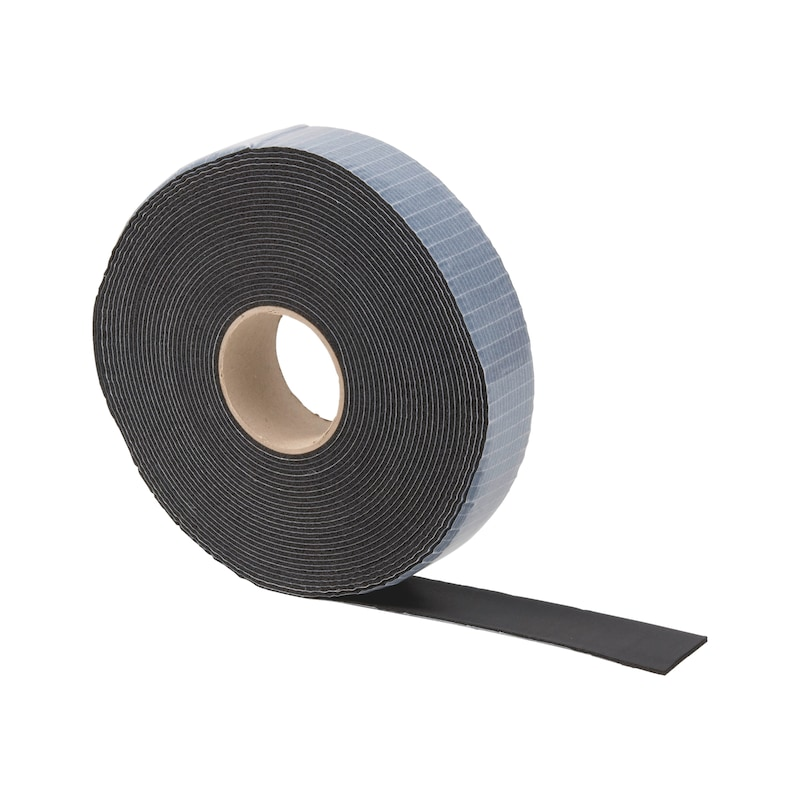 Rubber wrapping tape, black