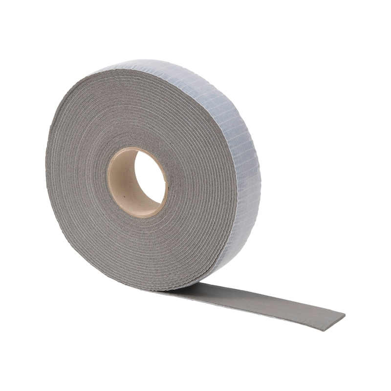 Rubber wrapping tape, grey