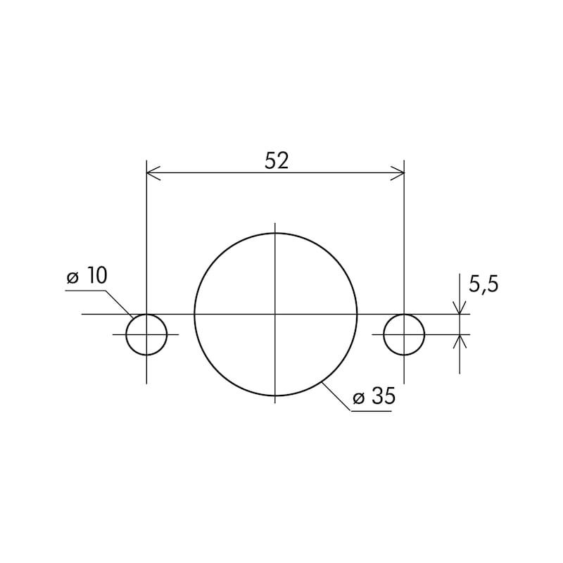 Gabarit de perçage pour charnière SBL-3 - GABARIT CHARNIERE SBL3 ENTRAXE 52MM