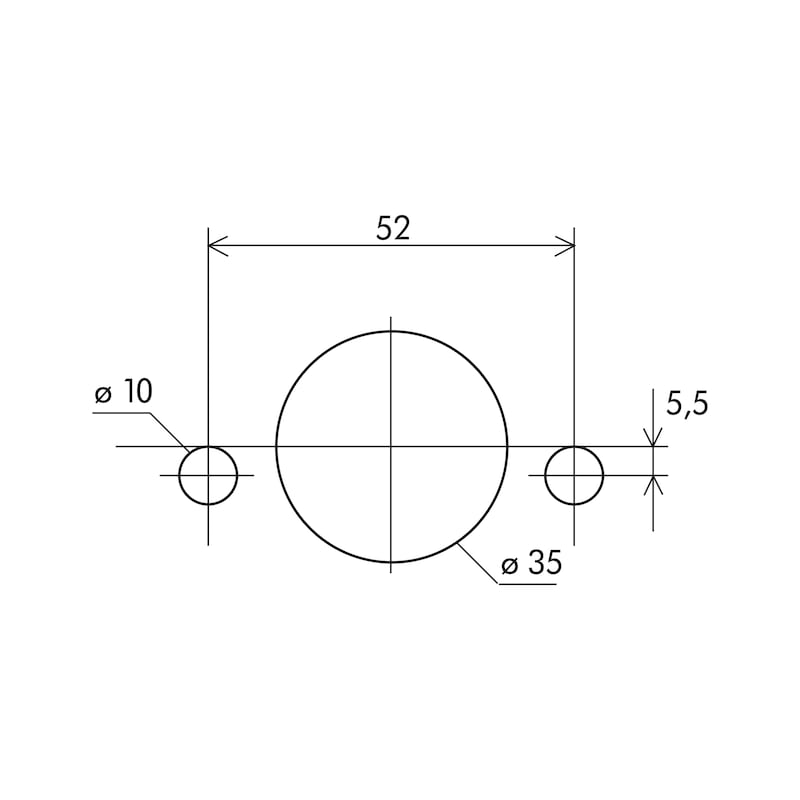 Scharnierbohrlehre SBL-3 - 2