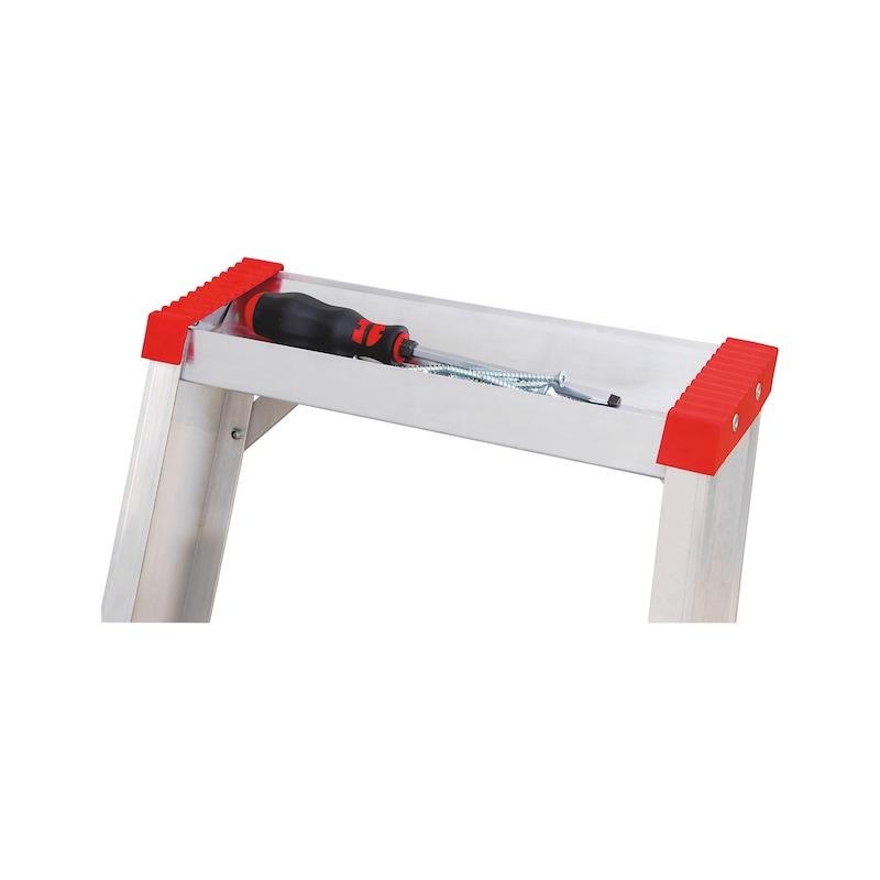 Scala a cavalletto in alluminio con piattaforma - 2