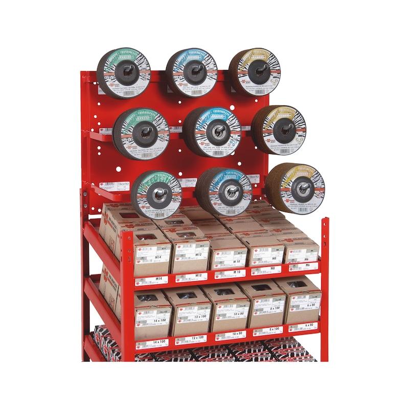 Composant pour disques à meuler et de coupe Système d'étagères ORSY<SUP>®</SUP> 1 - 2