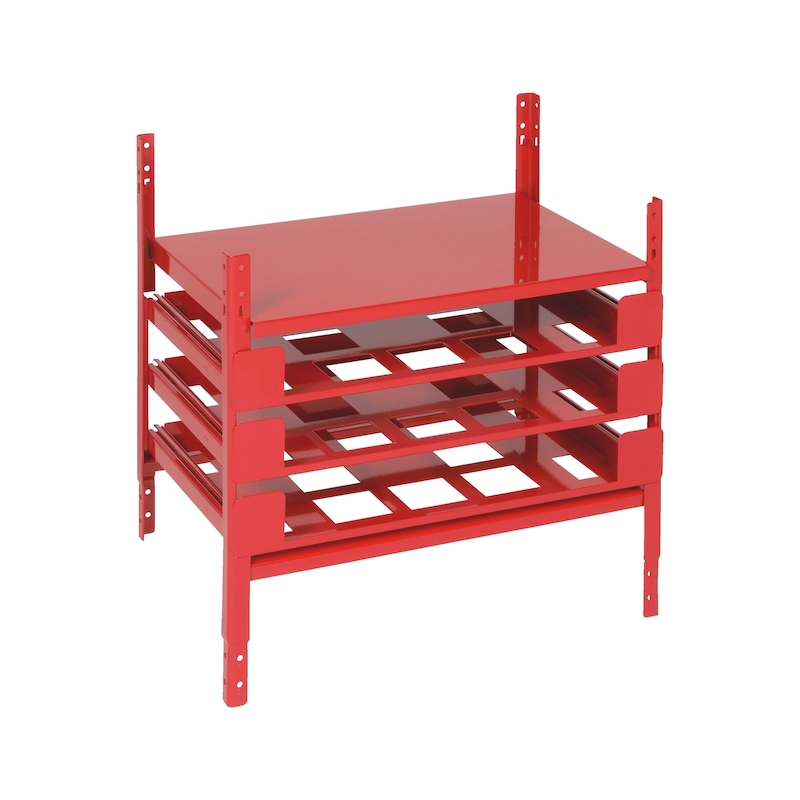 Drawer component ORSY<SUP>®</SUP> 1 shelving system - DRWRDIV-ORSY200-RED