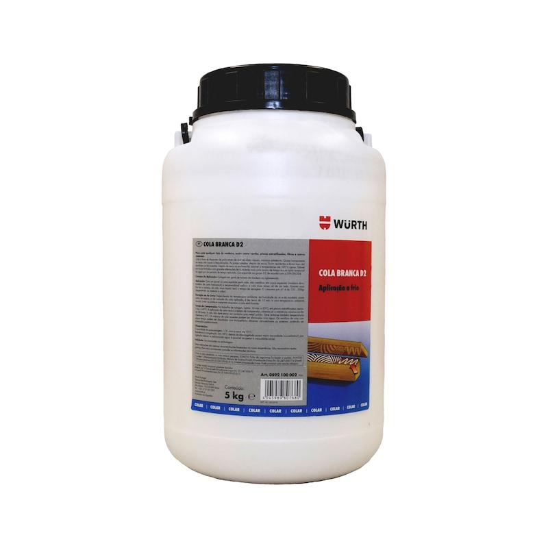 Cola branca para madeira D2 - COLA P/MADEIRA D2 APLICACAO A FRIO 5K