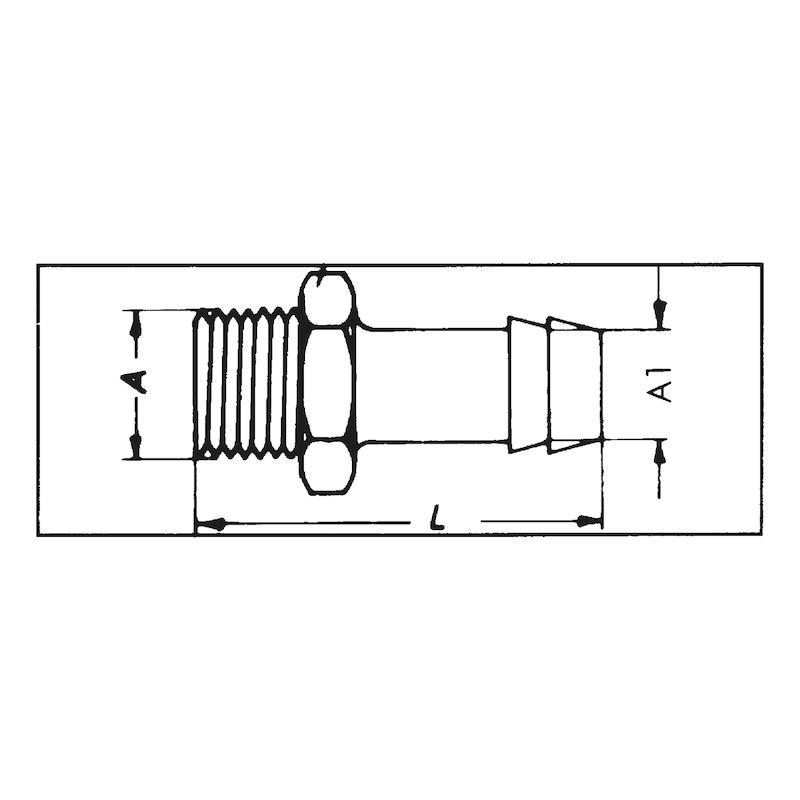 Винтовой фитинг для подачи сжатого воздуха - НИППЕЛЬ-MS-1/4ZO-6MM