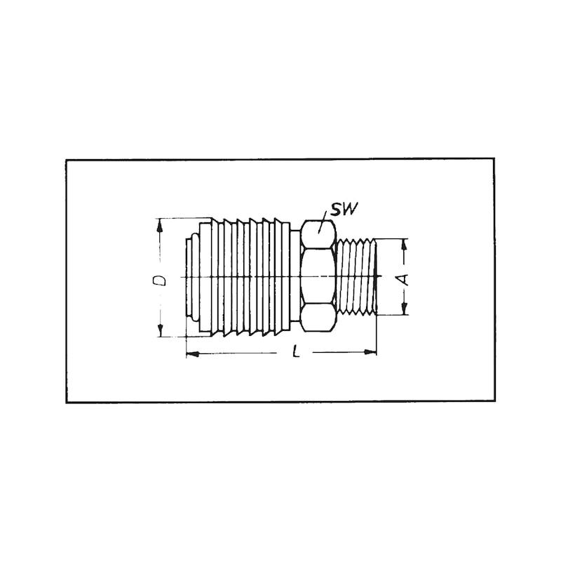 Schnellverschlusskupplung - KUPPL-SHNLVERSHL-DL-MS-7.2AG-G1/2ZO