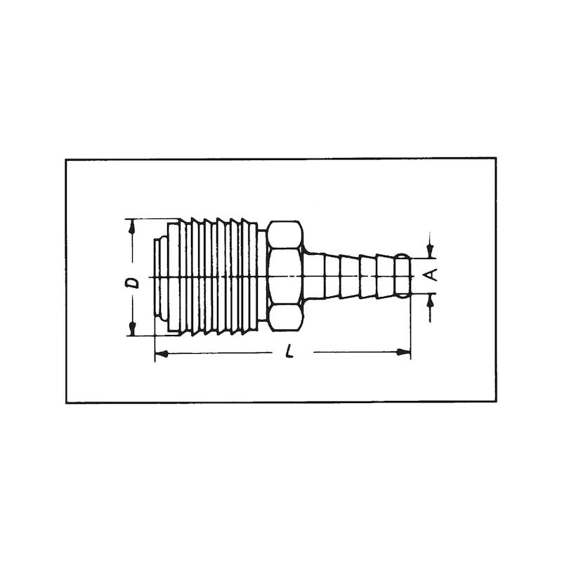 Schnellverschlusskupplung Druckluft - 2