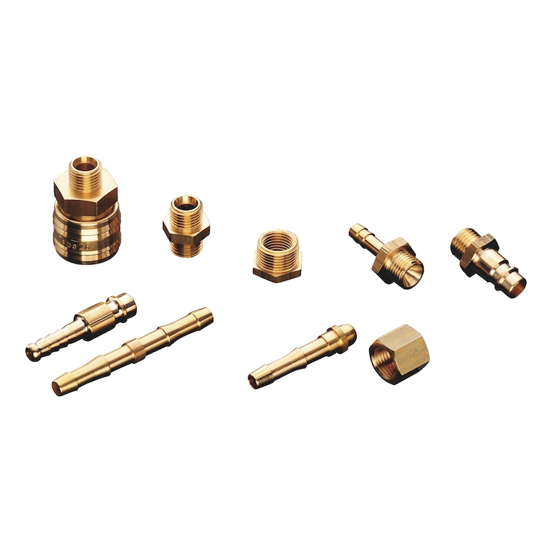 Quick-action coupling - CUPL-QCKACTION-PN-BRS-7.2IT-G1/4IN