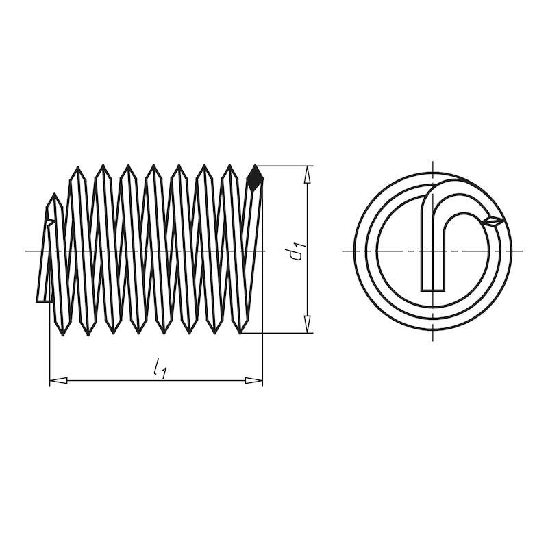 Insert fileté pour câble Fonctionnement libre INSERT HÉLOCOÏDAL W.TEC<SUP>®</SUP> - 2