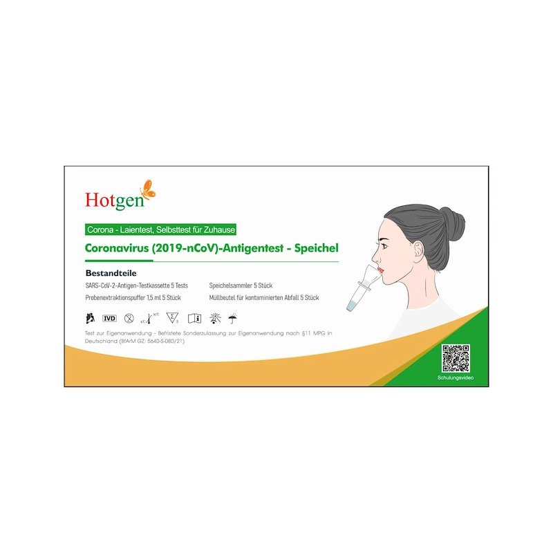COVID-19 Antigen Hotgen Speichel Test