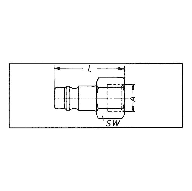 Stecknippel Innengewinde - NPL-STE-DL-MS-IG-G1/2ZO