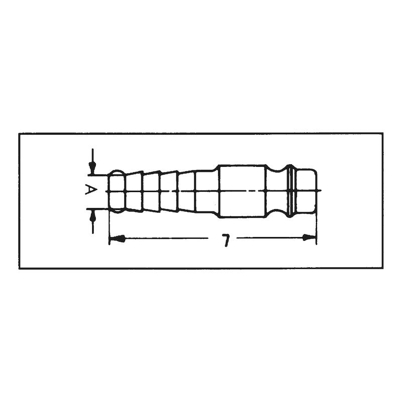Stecktülle Druckluft - TUEL-STE-DL-ST-MS-6MM