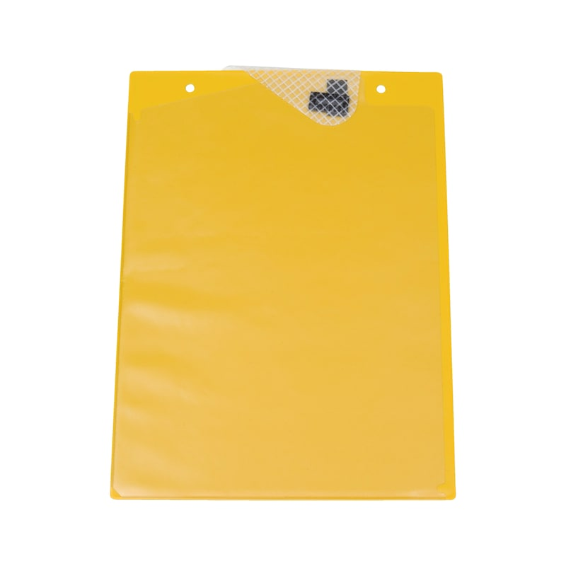 Ochranné puzdro na dokumenty s upínacou páskou - OCHRAN.OBAL BEZ POTLAC.-A4-S.Z.-ZLTY