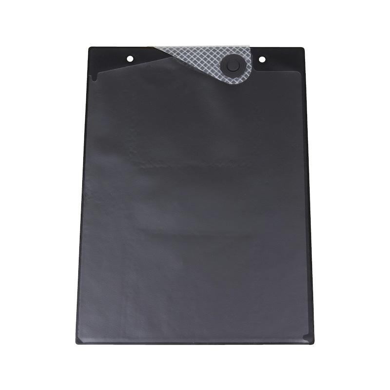 Ochranné puzdro na dokumenty smagnetickým uzáverom - OCHRAN.OBAL BEZ POTLAC.-A4-MAGNET-CIERNA