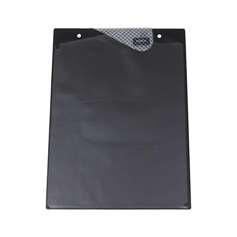 Ochranné puzdro na dokumenty s upínacou páskou - OCHRAN.OBAL BEZ POTLAC.-A4-S.Z.-CIERNA