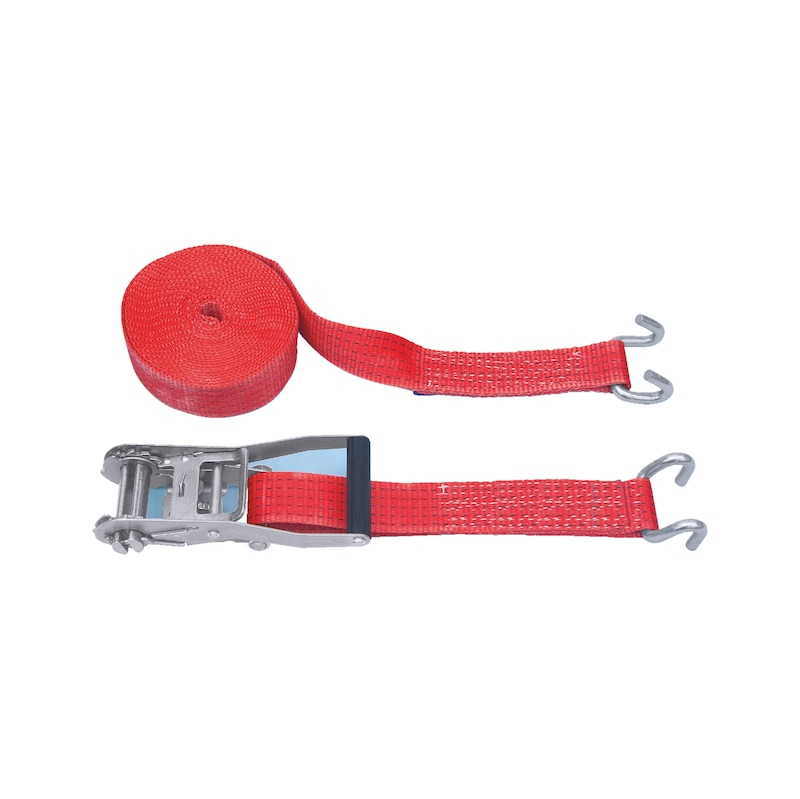 Ratchet lashing belt standard with claw hook - 1