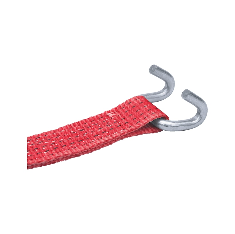 Ratchet lashing belt standard with claw hook - 2
