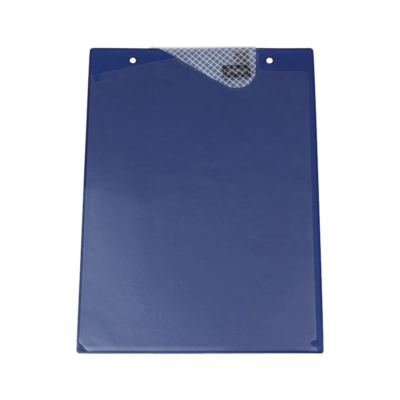 Ochranné puzdro na dokumenty s upínacou páskou - OCHRAN.OBAL BEZ POTLAC.-A4-S.Z.-MODRY