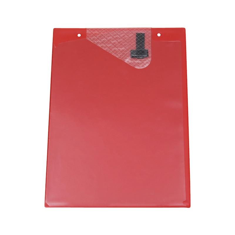 Ochranné puzdro na dokumenty s upínacou páskou - OCHRAN.OBAL BEZ POTLAC.-A4-S.Z.-CERVENA