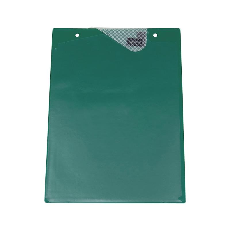 Ochranné puzdro na dokumenty s upínacou páskou - OCHRAN.OBAL BEZ POTLAC.-A4-S.Z.-ZELENY