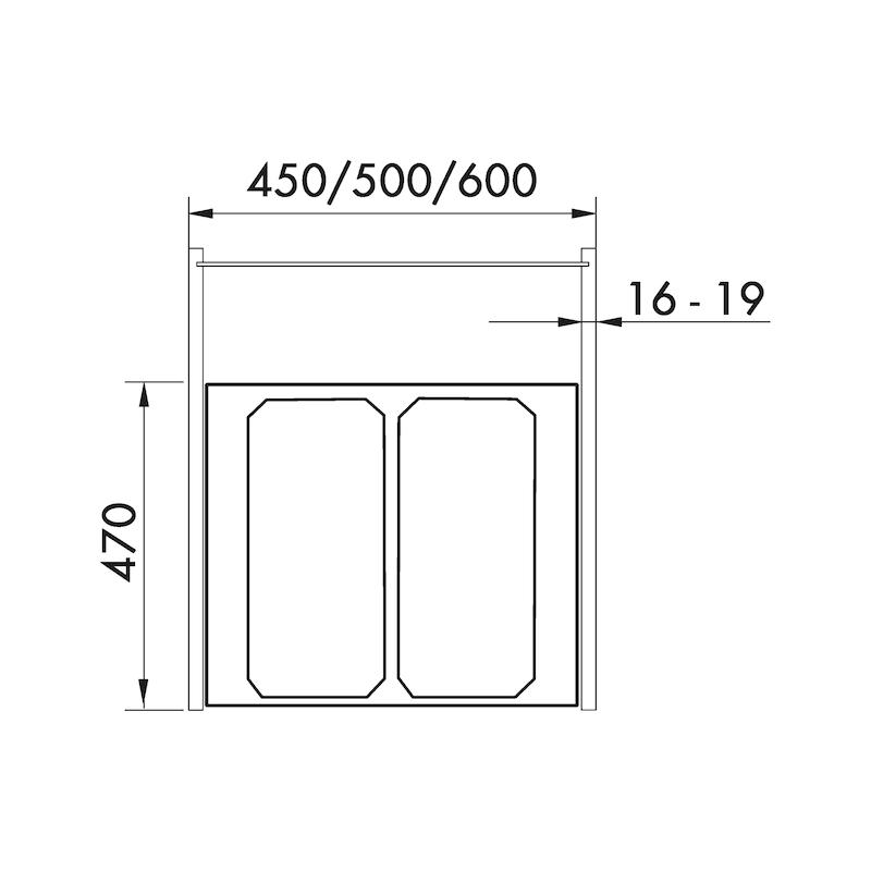 Système de tri des ordures VS ENVI Fit - 2