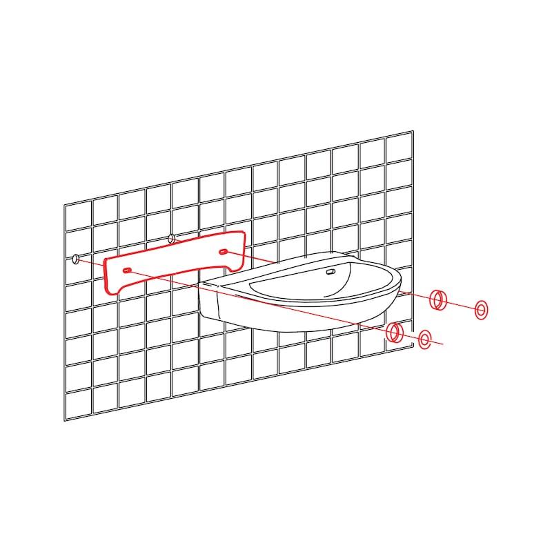 Waschtisch-Schallschutzset Profi - 2