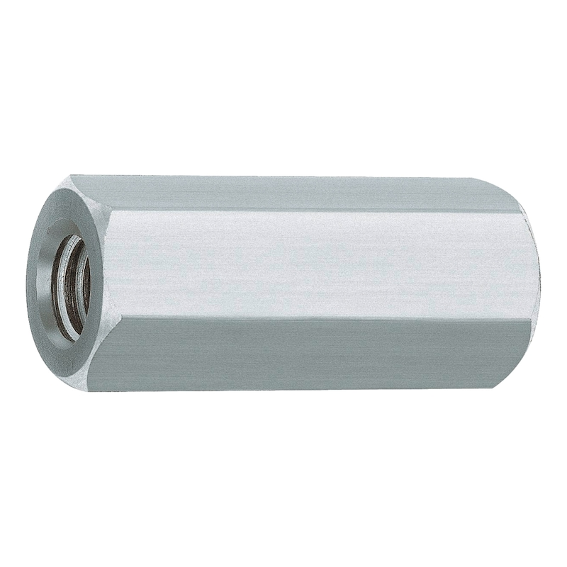Hexagonal galvanised steel spacer sleeve - 1