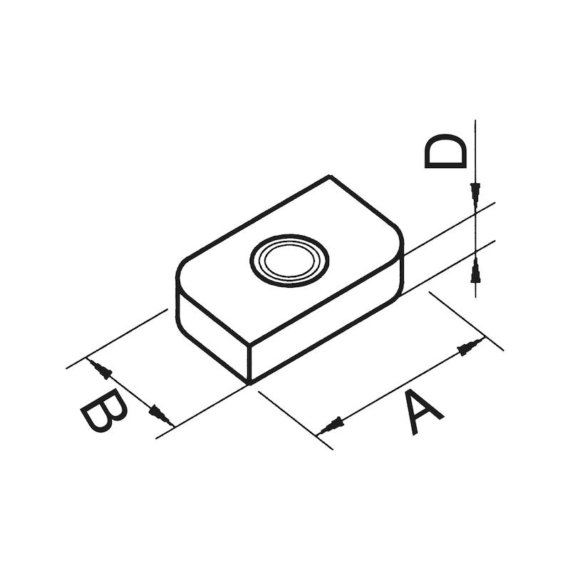 VARIFIX<SUP>®</SUP> Schiebemutter - MU-M10-PRFL26/28-A4-22X13X4MM
