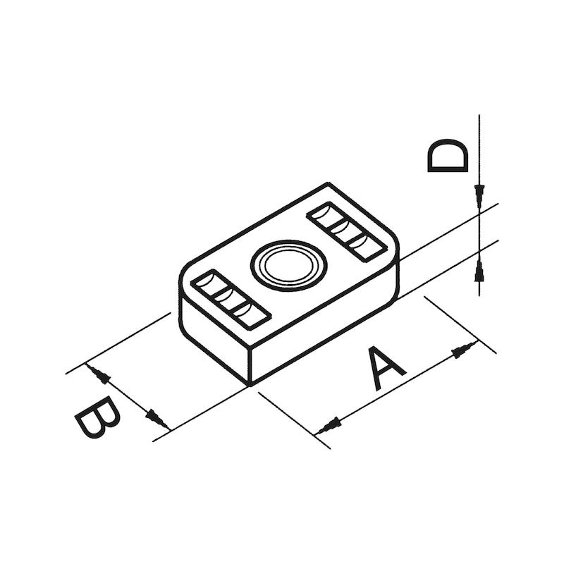 VARIFIX<SUP>®</SUP> Schiebemutter - C2C - MU-M10-PRFL41-A4-35X20X6MM