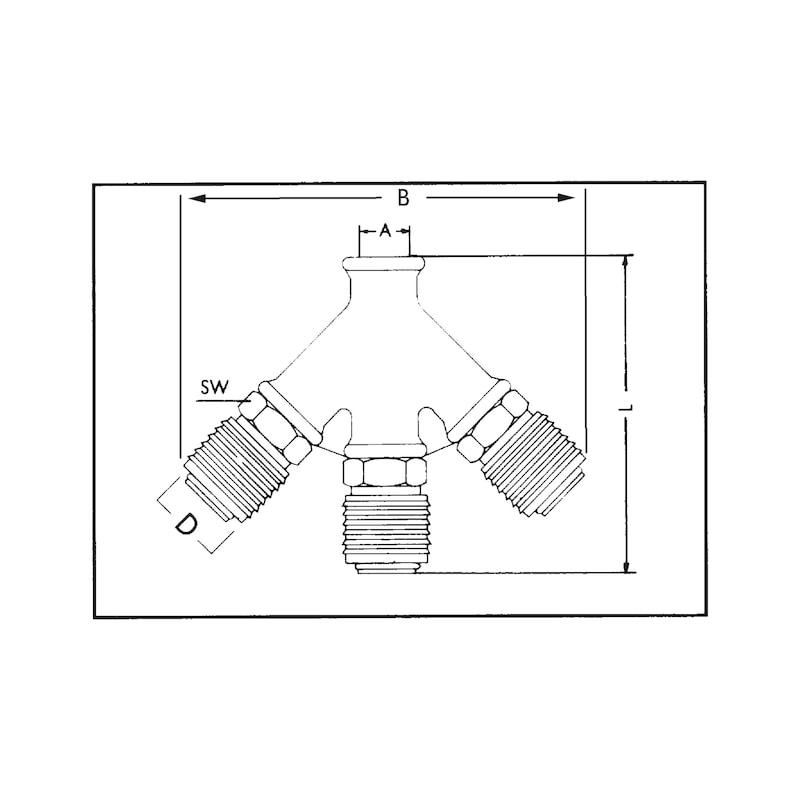 Dreifachverteiler - VERT-DL-3FACH-MS-KPL-G3/8ZO