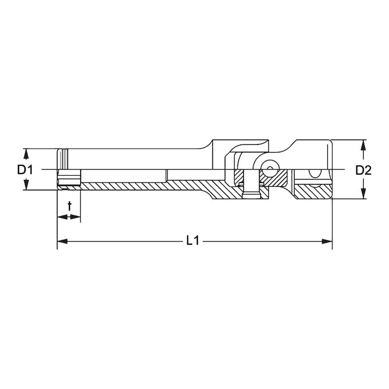 3/8 Zoll-Glühkerzen-Steckschlüsseleinsatz - 2