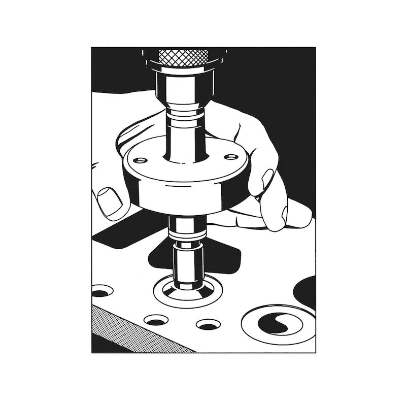 バルブシートグラインダー - ドリル用バルブタコ棒