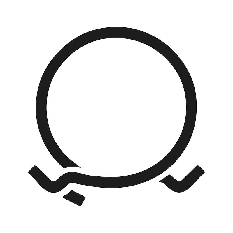 Pince pour collier en bande à ressort flexible - 4