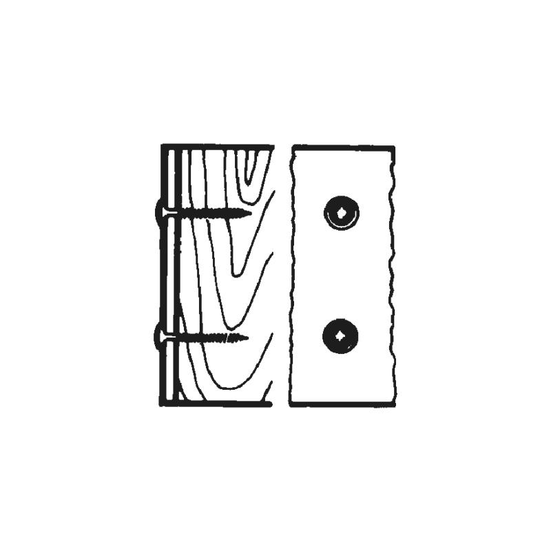 WÜPOFAST<SUP>®</SUP> blau verzinkt Rückwandschraube - 3