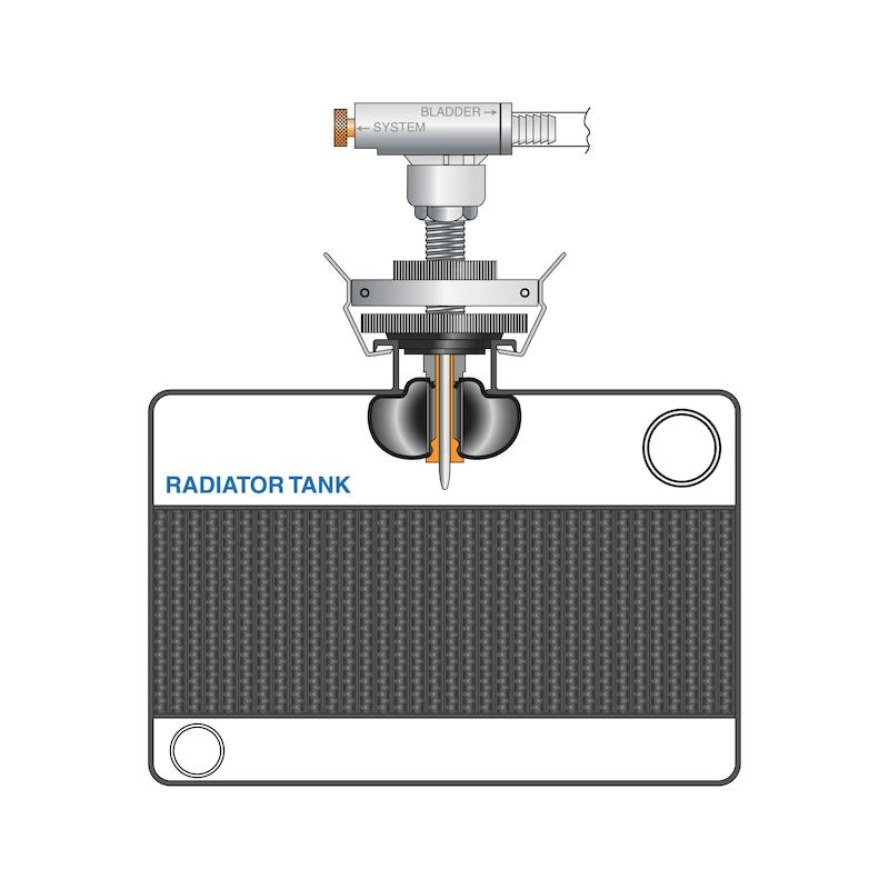 Şişirilebilir sızdırmazlık balonlu soğutma sistemi test cihazı - ÜNİVERSAL SOĞUTMA SUYU TEST CİHAZI