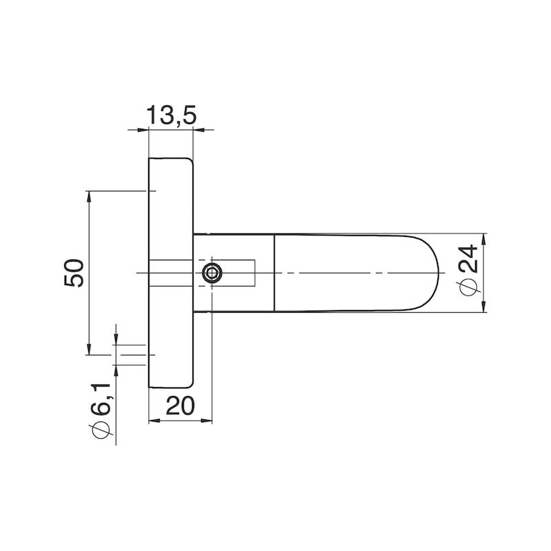 Türdrücker A 811 auf Ovalrosette - 3