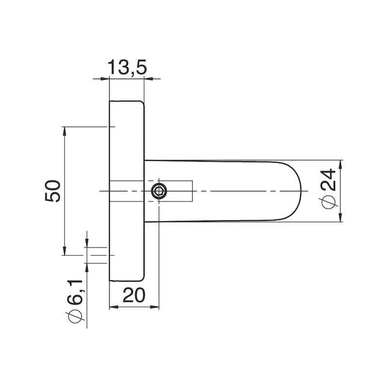 Türdrücker A 810 auf Ovalrosette - 3