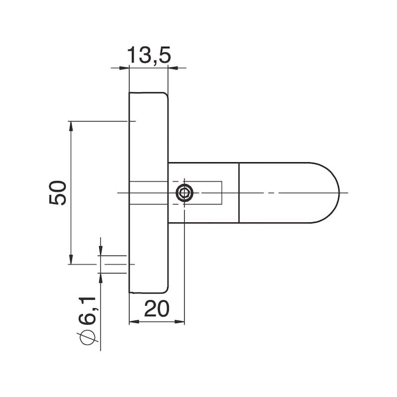 Türdrücker A 807 auf Ovalrosette - 3
