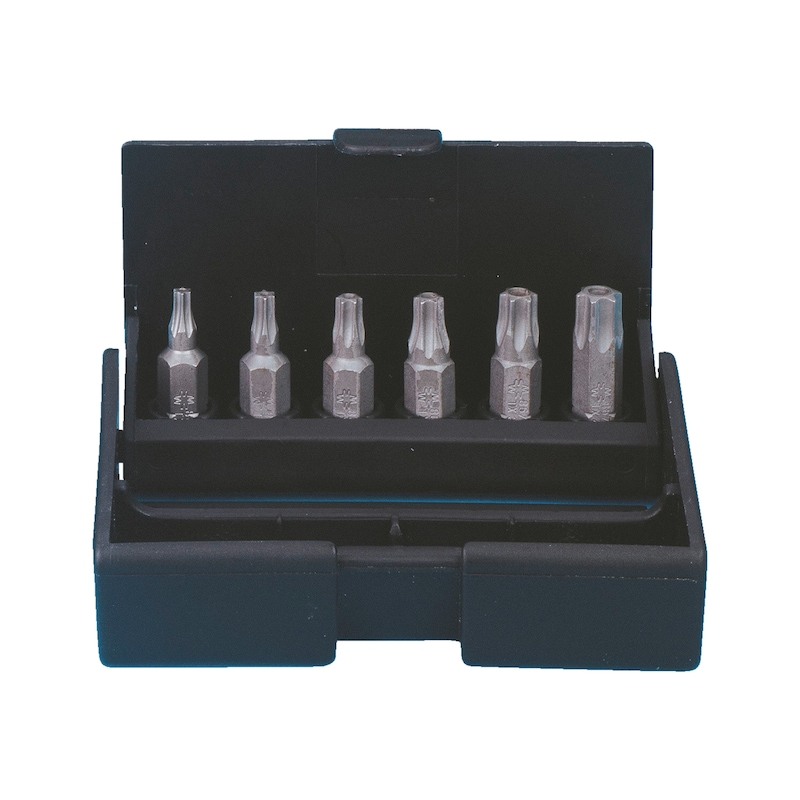 TX bits ürün seti, delikli, 6 parça - BİTS UÇ SETİ-TX10-40-İÇ DELİKLİ-6PARÇA