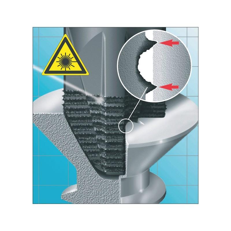 Skruetrækker med lige kærv, laserspids - ZEBRA SKRUETR.LIGEKÆRV 8X150 LASERTIP